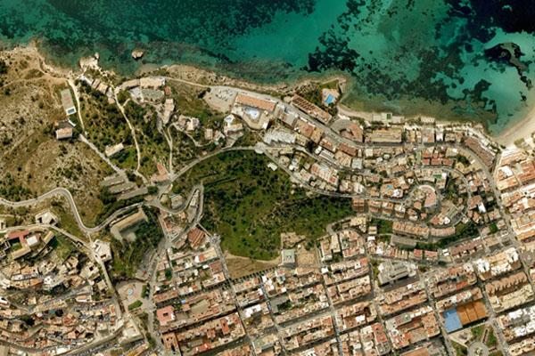 Imagen del perímetro de la necrópolis marcado después de la Ley de 1931.