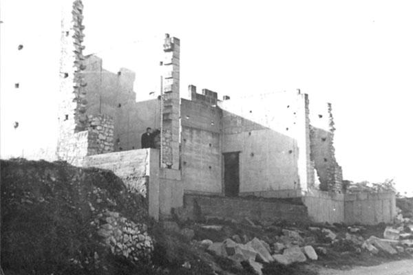 Situación del museo después de la paralización de las obras de construcción en 1964.